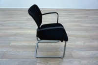 Black Mesh / Fabric Cantilever Office Meeting Chairs - Thumb 4
