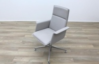 Brunner Grey Leather Meeting Chair - Thumb 3