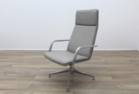 Brunner Light Grey Leather Executive Chair - Thumb 3