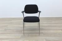 Brunner Black Fabric Meeting Chair - Thumb 4
