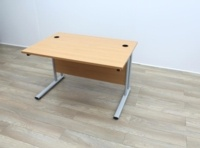 Beech Cantilever Desks With Courtesy Panel - Thumb 3