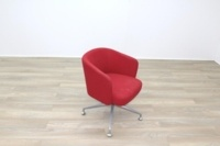 Orangebox HAY Red Fabric Office Reception Tub Chairs - Thumb 2