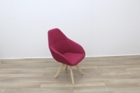 Pink Fabric Reception Chair - Thumb 6