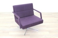 Brunner Purple Fabric Reception Chair - Thumb 5