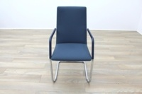 Brunner Fina Soft Blue Fabric Cantilever Office Meeting Chairs - Thumb 4