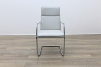 Brunner White Leather Meeting Chair - Thumb 4