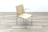 Brunner Oak Meeting Chair with Armpads - Thumb 5