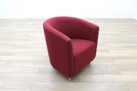 Orangebox Abbey Red Fabric Office Reception Tub Chairs - Thumb 5