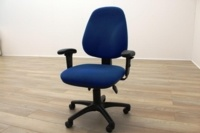 Blue Fabric Multifunction Office Task Chairs - Thumb 4