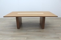 Sven Christiansen 2400mm Solid Walnut / Maple Executive Office Meeting Table - Thumb 3