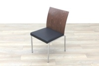 Brunner Walnut Back Black Leather Seat - Thumb 3