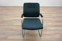 Blue Fabric Cantilever Office Meeting Chairs - Thumb 3