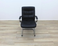 Black Faux Leather Meeting Chairs - Thumb 2