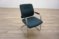 Blue Fabric Cantilever Office Meeting Chairs - Thumb 2