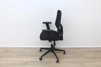 Black Operator Chair With Mesh Back And Lumbar Support - Thumb 3