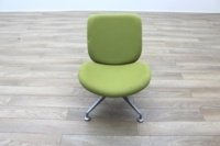 Orangebox Track Green Fabric Office Reception Tub Chairs - Thumb 4