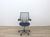 Humanscale Liberty Blue Fabric / Grey Mesh Office Task Chairs - Thumb 2