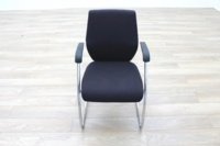 Orangebox Black Fabric Cantilever Office Meeting Chair - Thumb 4