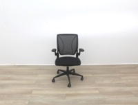 Humanscale Diffrient World Black Mesh Back And Fabric Seat Office Task Chairs - Thumb 3