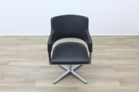 Brunner Grey Leather Executive Meeting Chair - Thumb 4