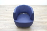 Blue Leather Office Reception Tub Chairs - Thumb 4