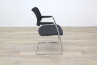 Brunner Black Mesh Back Grey Fabric Seat Meeting Chair - Thumb 6