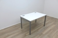 White 1200mm Straight Office Desks - Thumb 2