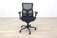 RS Pro Mesh Back Black Fabric Seat Operator Chair - Thumb 4