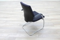 Orangebox Black Fabric Cantilever Office Meeting Chair - Thumb 7
