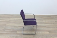 Brunner Purple Velour Meeting Chair - Thumb 6