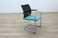 Sedus UP 233 Black Mesh Back Teal Seat Office Meeting Chairs - Thumb 4