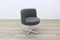 Brunner Grey Fabric Reception Tub Chair - Thumb 5