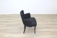 Black Fabric w/ Green Fleck Office Reception Tub Style Chairs - Thumb 2