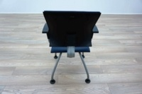 Ahrend Blue Leather Office Meeting Chairs - Thumb 5