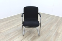 Black Fabric Meeting Chairs - Thumb 2