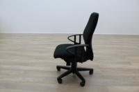 Black Fabric Multifunction Office Task Chairs - Thumb 4