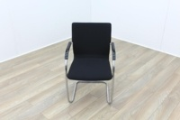 Brunner Black Fabric Cantilever Meeting Chair - Thumb 2