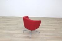 Orangebox HAY Red Fabric Office Reception Tub Chairs - Thumb 7