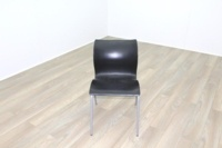 Black Polymer Stacking Office Canteen Chair - Thumb 3