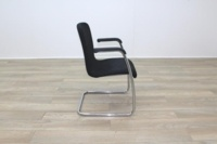 Black Fabric Meeting Chairs - Thumb 6