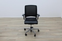 Interstuhl Black Leather Operator Chair - Thumb 4