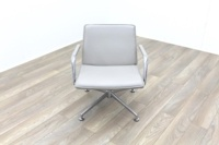 Brunner Light Grey Leather Meeting Chair - Thumb 2