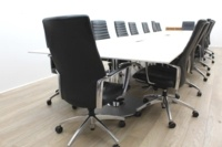 White Boardroom/Meeting Table With Cable Management - Thumb 5