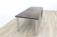 Zebrano Rectangular Office Meeting Table - Thumb 3