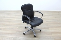Black Faux Leather Executive Office Task Chairs - Thumb 5