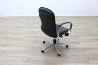 Black Faux Leather Executive Office Task Chairs - Thumb 7