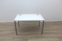 White 1200mm Straight Office Desks - Thumb 3