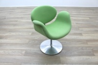Artifort Little Tulip Chair, Green Fabric Office Reception - Thumb 5