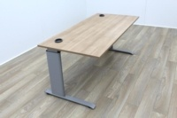 Light Walnut 1600mm Straight Office Desks - Thumb 4
