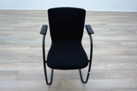 Orangebox GO Black Fabric Office Meeting Chairs - Thumb 3